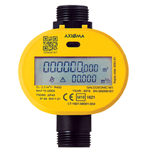 "Load image into Gallery viewer, Axioma Qalcosonic W1 Cold Water Meter. 15mm, 1/2"" BSP Q3=1.6 m3/h. 110mm."