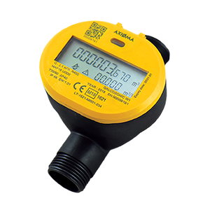 "Axioma Qalcosonic W1 Hot Water Meter. 15mm, 1/2"" BSP Q3=2.5 m3/h. 110mm."