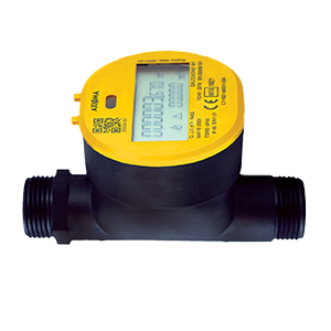 "Axioma Qalcosonic W1 Hot Water Meter. 20mm, 3/4"" BSP Q3=4.0 m3/h. 130mm."