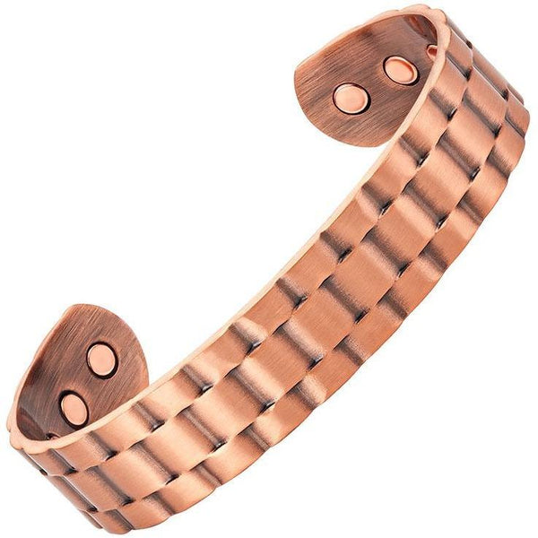 Magnetic Bracelet Antique Copper Lynx Magnetic Therapy Bracelet Bangle Cuff MagnetRX