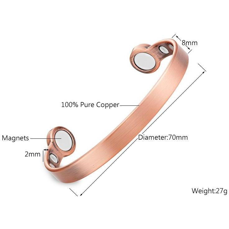 Magnetic Bracelet Antique Copper Powerful Magnetic Therapy Bangle Bracelet MagnetRX