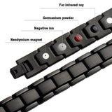 Magnetic Bracelet Black Stainless Steel Chain 4in1 Magnetic Therapy Bracelet MagnetRX