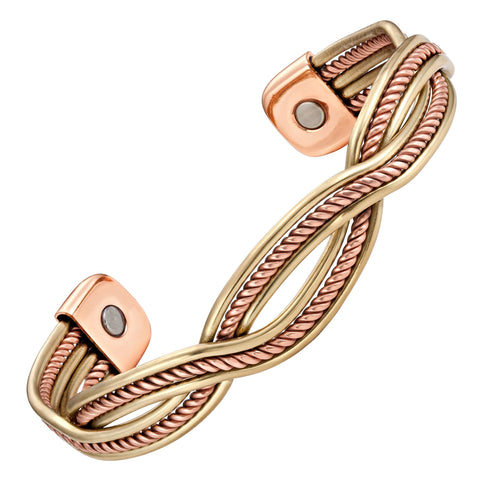 Magnetic Bracelet Copper Magnetic Bracelet Twisted Gold Rope Bangle MagnetRX