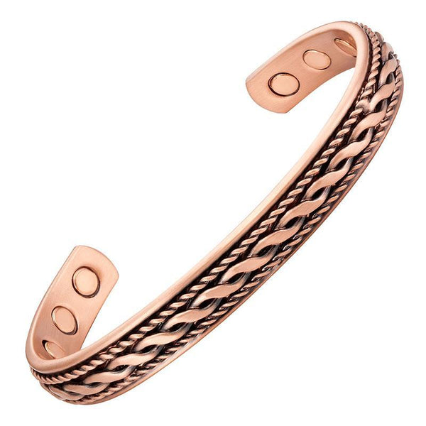 Magnetic Bracelet Copper Twist Magnetic Therapy Bracelet Cuff MagnetRX