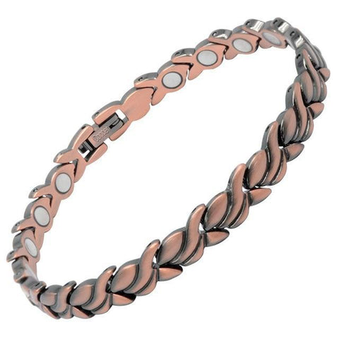 Magnetic Bracelet Women's Copper Magnetic Therapy Bracelet Flower Chain MagnetRX