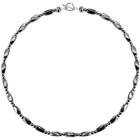 Magnetic Necklace Black Bio Magnetic Therapy Necklace Pure Hematite Bead MagnetRX