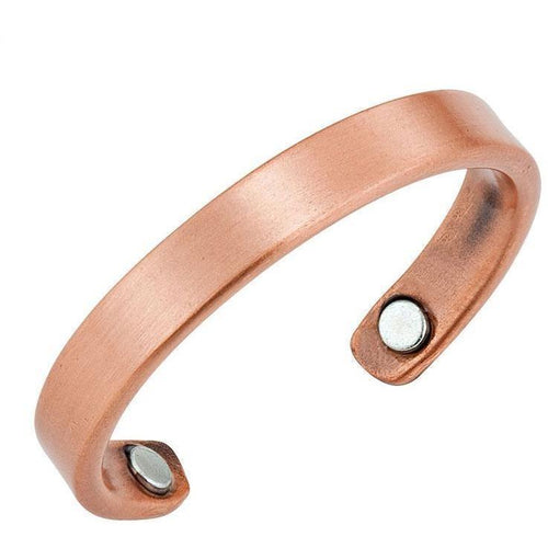 Magnetic Ring Brushed Copper Thin Magnetic Therapy Resizable Ring MagnetRX