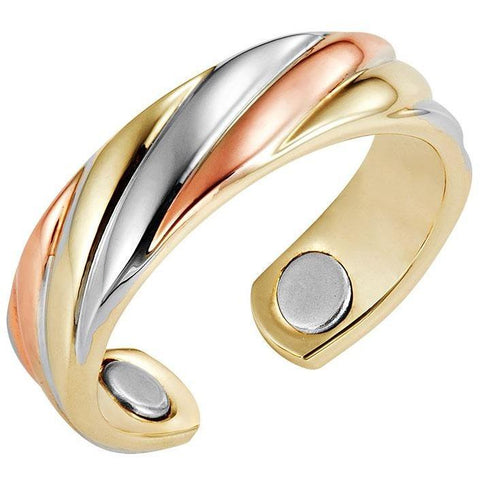 Magnetic Ring Triple Twist Magnetic Therapy Resizable Ring MagnetRX