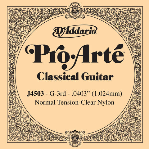 D'Addario Pro Arte normal tension G / 3rd
