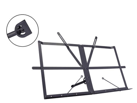 Folding table top music stand - Black
