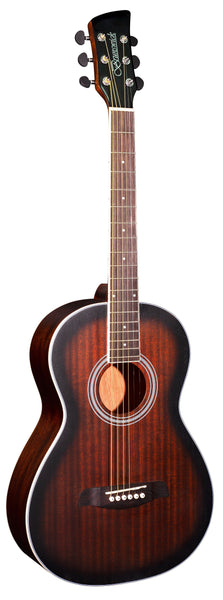 Brunswick (BP200TB) Parlour Acoustic Guitar - Tobacco Burst