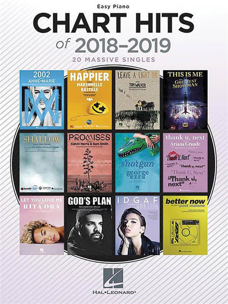 Chart Hits Of 2018-2019 - Easy Piano