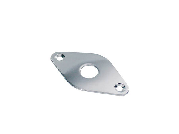 Diamond Shape Contoured Metal Jack Plate - Chrome