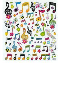 Stickers: Floral Notes And Clefs
