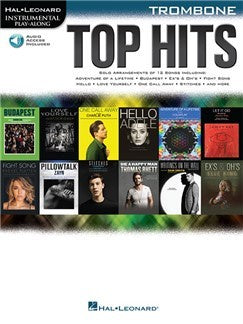 Hal Leonard Instrumental Play-Along: Top Hits - Trombone (Book/Online Audio)