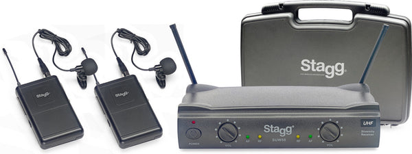 Stagg Dual Lavalier/Headset UHF Wireless System - 863.8-864.