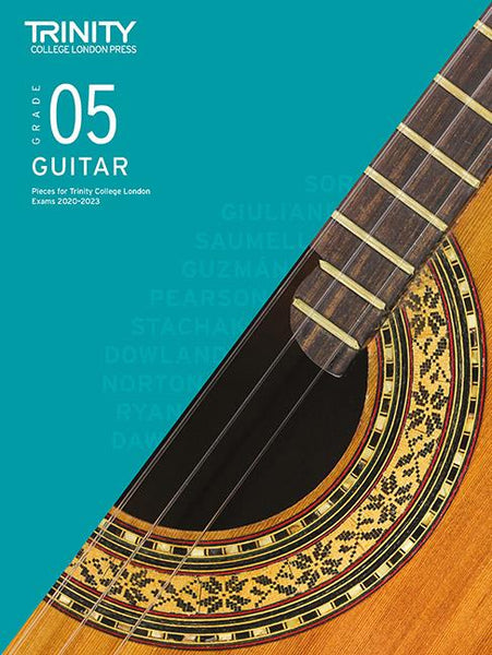 Trinity Classical Guitar Exam Pieces 2020-2023 - Grade 5