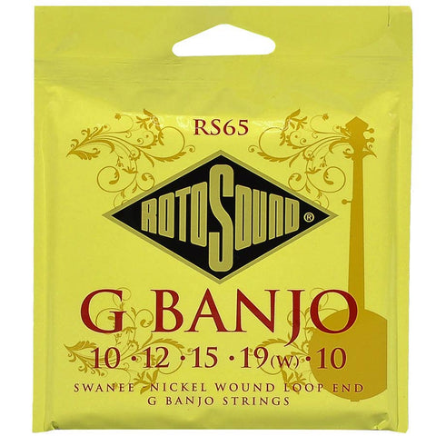 Rotosound (RS65) 5 String / G Banjo Strings - Loop End