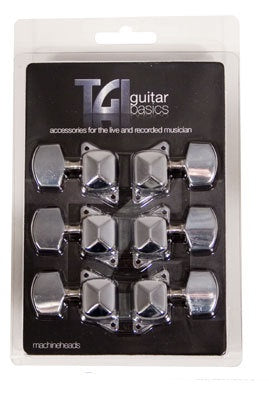 TGI machine heads, acoustic guitar 3 a side nickel