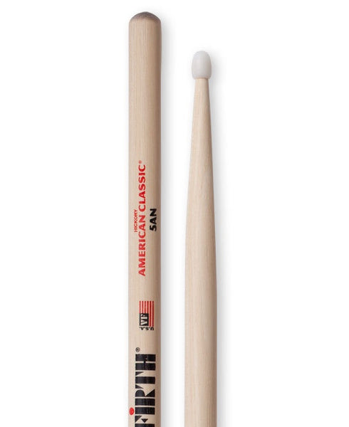 Vic Firth 5AN Nylon Tip Drumsticks - Hickory
