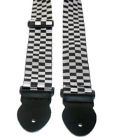 "LG 2"" X-Long Chequered Webbing Guitar Strap"