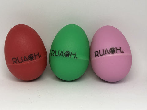 Ruach Plastic Single Egg Shaker - Assorted  Colours