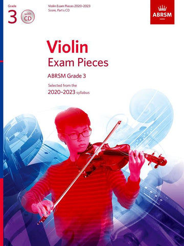 ABRSM Violin Exam Pieces 2020-2023 - Grade 3 - Score, Part & CD