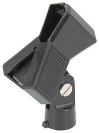 Clamp style microphone clip