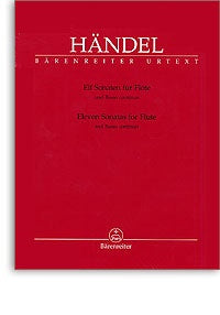 George Frideric Handel: Sonatas (11) for Flute and Figured Bass (Urtext).
