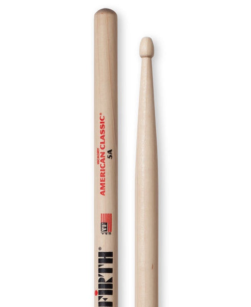 Vic Firth 5A Wooden Tip Drumsticks  - Hickory