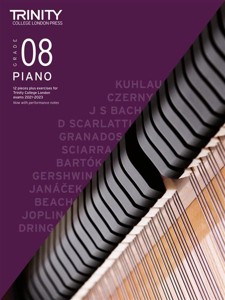 Trinity Piano Exam Pieces & Exercises 2021 - 2023 - Grade 8 (BOOK ONLY)