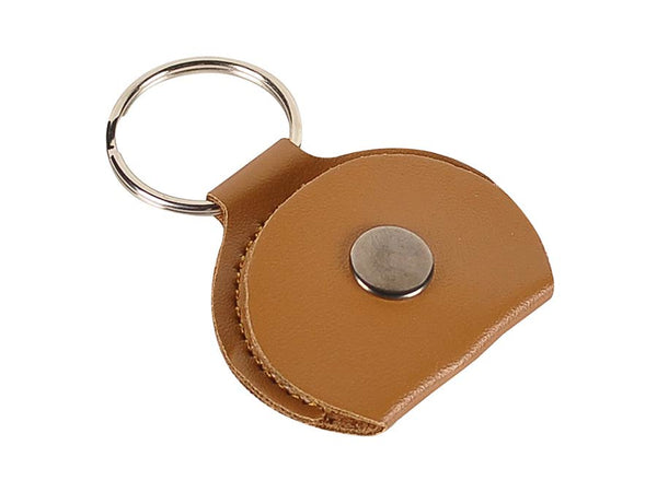 Rotosound brown leather key ring plectrum holder