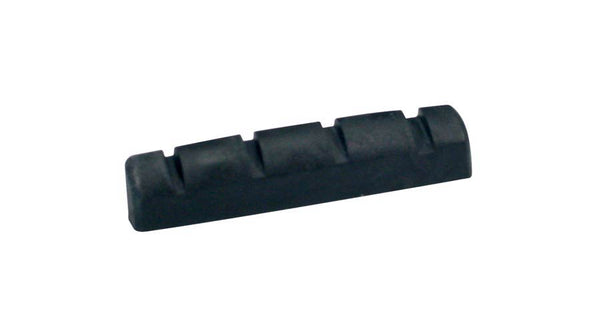 Carbon 4 String Bass Guitar Top Nut - Black