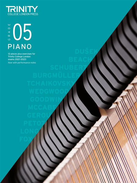 Trinity Piano Exam Pieces & Exercises 2021 - 2023 - Grade 5 (BOOK ONLY)