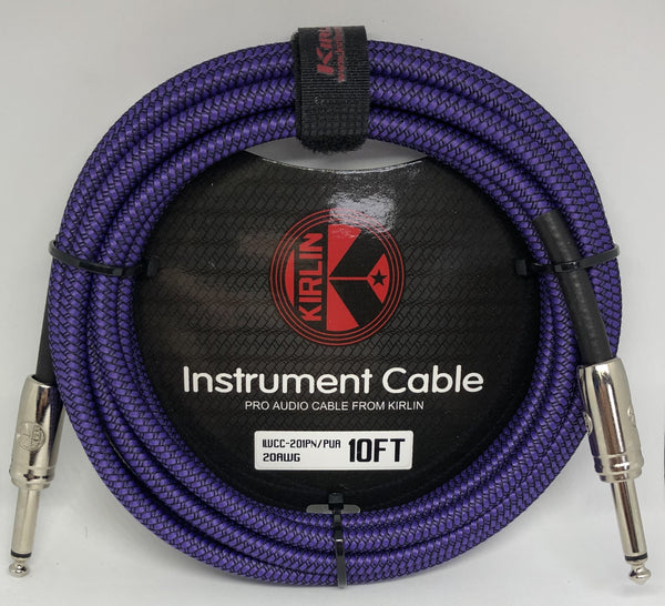 Kirlin 10ft / 3m Purple Woven Straight - Straight Jack Cable
