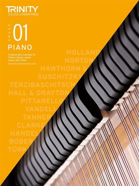 Trinity Piano Exam Pieces & Exercises 2021 - 2023 - Grade 1 (BOOK ONLY)