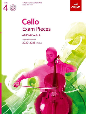 ABRSM Cello Exam Pieces 2020-2023 - Grade 4 - Score, Part & CD