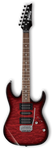 (N) Ibanez Gio (GRX70QA-TRB) Transparent red burst electric guitar