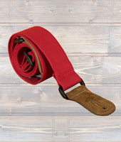 "LG 2"" Red Cotton Woven Guitar Strap"