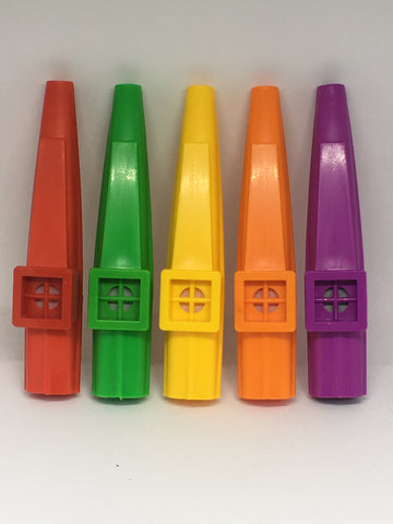 Single plastic kazoo - Assorted colours