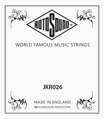 Rotosound single .026 phosphor bronze wound guitar string