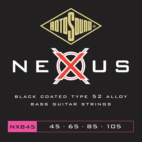 (N) Rotosound Nexus (NXB45) 45 - 105 black coated bass strings