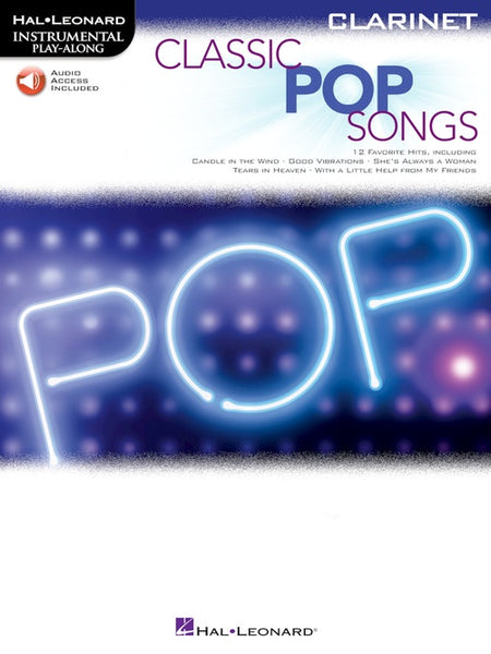 Instrumental Play-Along: Classic Pop Songs (Clarinet) - Audio Access