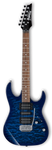 (N) Ibanez Gio (GRX70QA-TBB) Transparent blue burst electric guitar