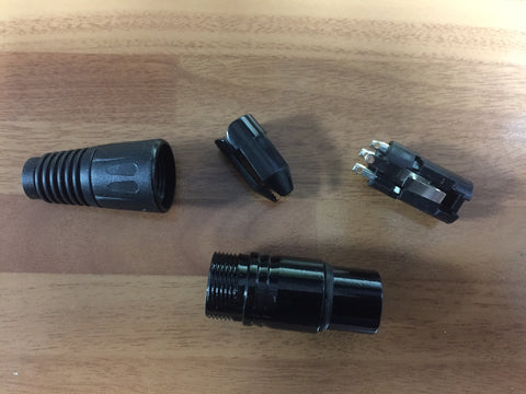 XLR female 3 pin plug