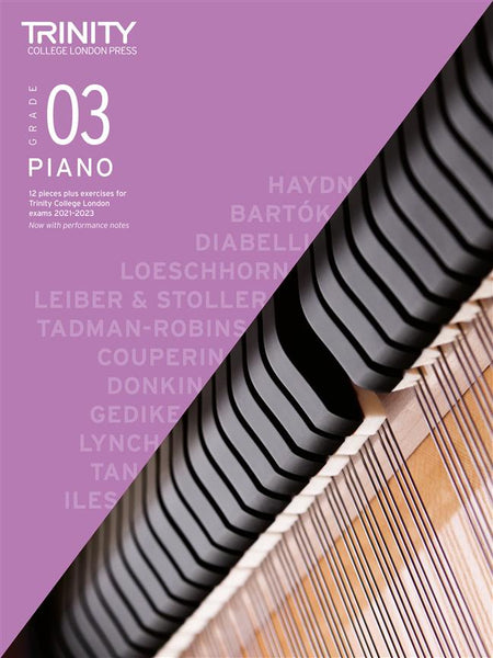 Trinity Piano Exam Pieces & Exercises 2021 - 2023 - Grade 3 (BOOK ONLY)