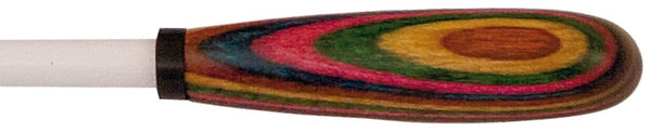 "King David Baton 14"" White Lacquer Taper/Rainbow"