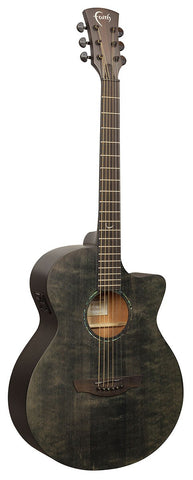 Faith Naked Series (FKVBK) Black Stained Venus All Solid Electric Acoustic - Including Gig Bag