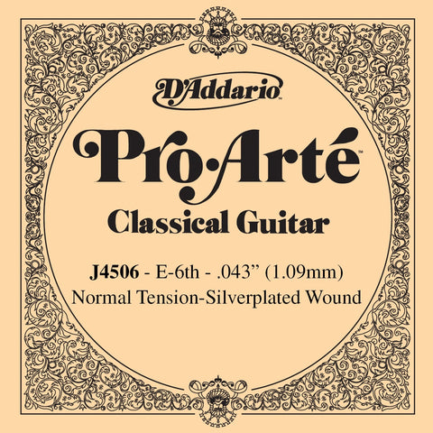 D'Addario Pro Arte normal tension low E / 6th