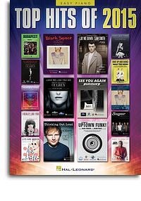 Top Hits Of 2015 (Easy Piano Songbook)